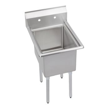 ELK141C18X240X - Elkay SSP - 14-1C18X24-0X - Standard 23 in One Compartment Sink Product Image