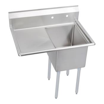 ELK141C18X24L18X - Elkay - 14-1C18X24-L-18X - 38 1/2 in One Compartment Sink w/ Left Drainboard Product Image