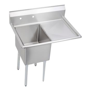 ELK141C18X24R18X - Elkay - 14-1C18X24-R-18X - 38 1/2 in One Compartment Sink w/ Right Drainboard Product Image