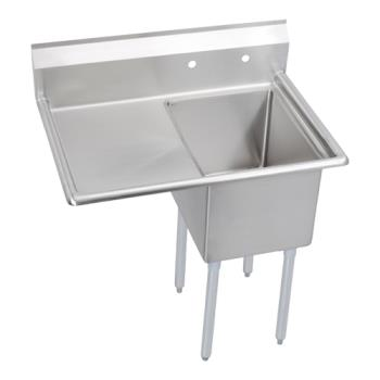 ELKE1C20X20L20X - Elkay SSP - E1C20X20-L-20X - Economy 42 1/2 in One Compartment Sink With Left 20 in Drainboard Product Image