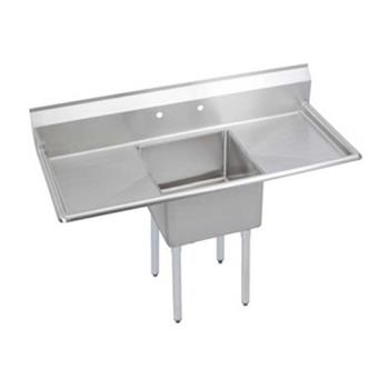 ELKS1C18X18218X - Elkay SSP - S1C18X18-2-18X - Super Economy 54 in One Compartment Sink With Left And Right 18 in Drainboards Product Image