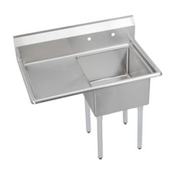 ELKS1C18X18L18X - Elkay - S1C18X18-L-18X - 38 1/2 in One Compartment Sink w/ Left Drainboard Product Image