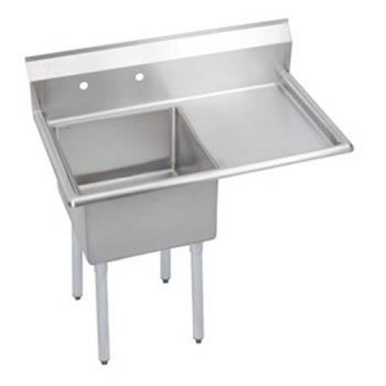 ELKS1C18X18R18X - Elkay - S1C18X18-R-18X - 38 1/2 in One Compartment Sink w/ Right Drainboard Product Image