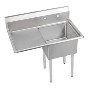 ELKSE1C18X18L18X - Elkay SSP - SE1C18X18-L-18X - 24 in One Compartment Sink With 18 in Left Drainboard Product Image