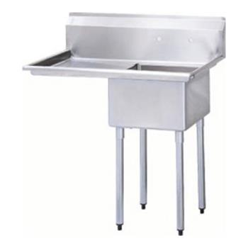 "95351 - Turbo Air - TSA-1-12-L1 - 40"" One Compartment Prep Sink w/ Left Drainboard Product Image"
