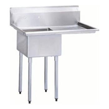 95352 - Turbo Air - TSA-1-12-R1 - 40 in One Compartment Prep Sink w/ Right Drainboard Product Image