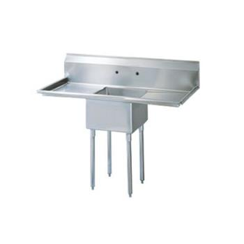 TURTSA1D1 - Turbo Air - TSA-1-D1 - 54 1/2 in One Compartment Sink w/ 18 in Drainboards Product Image