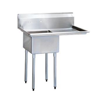 TURTSA1R1 - Turbo Air - TSA-1-R1 - 40 in One Compartment Sink w/ 18 in Right Drainboard Product Image
