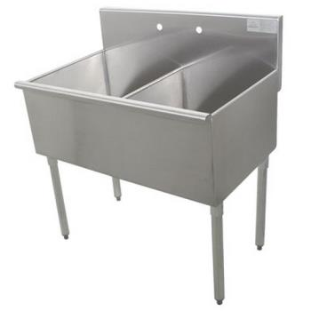ADV4236X - Advance Tabco - 4-2-36-X - 18 in x 21 in x 14 in 2 Compartment Utility Sink Product Image