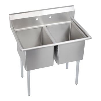 ELK142C18X240X - Elkay SSP - 14-2C18X24-0X - Standard 43 in Two Compartment Sink Product Image