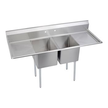 ELK142C18X24218X - Elkay - 14-2C18X24-2-18X - 74 in Two Compartment Sink w/ Two Drainboards Product Image