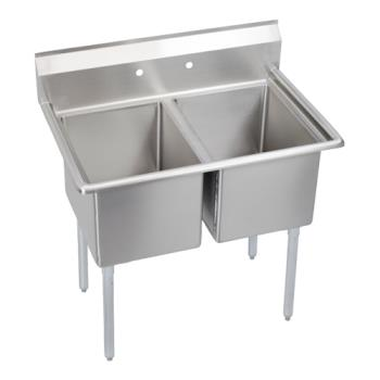 ELK2C18X180X - Elkay SSP - 2C18X18-0X - Standard 43 in Two Compartment Sink Product Image