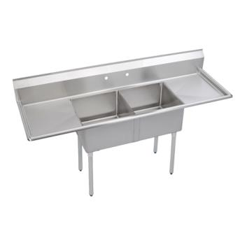 ELKS2C18X18218X - Elkay - S2C18X18-2-18X - Two Compartment Sink With Left/Right Drainboards Product Image