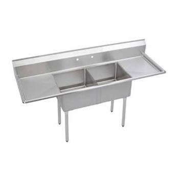 ELKSE2C18X18218X - Elkay - SE2C18X18-2-18X - 24 in Two Compartment Sink With  18 in Drainboards Product Image