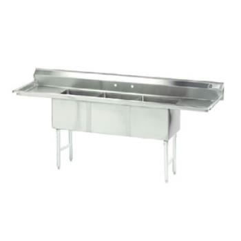 ADVFC3181824RLX - Advance Tabco - FC-3-1818-24RL-X -24 in Right/Left Drainboard 3 Compartment Sink Product Image