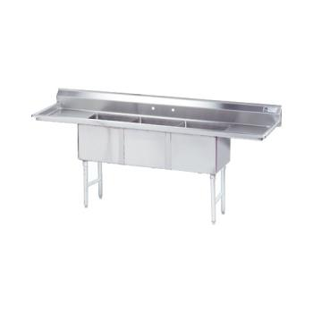 ADVFC3182418RLX - Advance Tabco - FC-3-1824-18RL-X - 18 in x 24 in x 14 in 3 Compartment Sink w/ Left and Right Drainboards Product Image