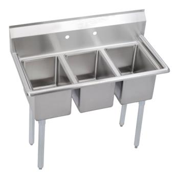 ELK3C12X160X - Elkay SSP - 3C12X16-0X - Deli 45 in Three Compartment Sink Product Image