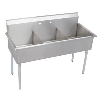 ELKB3C24X24X - Elkay - B3C24X24X - 27 1/2 x 75 in Three Compartment Utility Sink Product Image