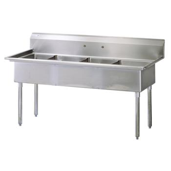 TURTSA4N - Turbo Air - TSA-4-N - 77 in Four Compartment Sink Product Image