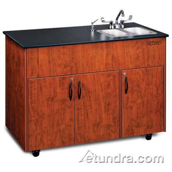 OZRADAVCLMSS2N - Ozark River - ADAVC-LM-SS2N - Advantage Series Double Stainless/Laminate/Cherry Portable Hand Sink Product Image