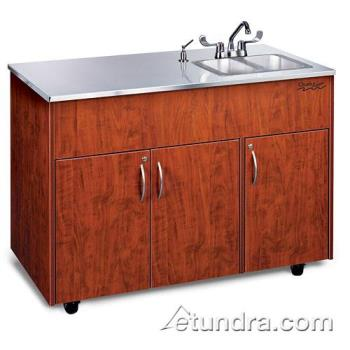 OZRADAVCSSSS2N - Ozark River - ADAVC-SS-SS2N - Silver Advantage Series Double Stainless/Cherry Portable Hand Sink Product Image