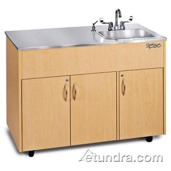 OZRADAVMSSSS1DN - Ozark River - ADAVM-SS-SS1DN - Silver Advantage Series Single Deep Stainless/Maple Portable Hand Sink Product Image