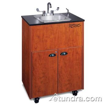 OZADSTCLMSSIN - Ozark River - ADSTC-LM-SS1N - Premier Series Stainless/Laminate/Cherry Portable Hand Sink Product Image