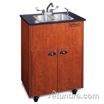 OZRADSTCLMSS2N - Ozark River - ADSTC-LM-SS2N - Premier Series Double Stainless/Laminate/Cherry Portable Hand Sink Product Image