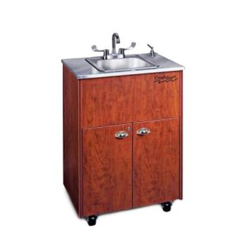 OZRADSTCSSSS1N - Ozark River - ADSTC-SS-SS1N - Silver Premier Series Single Stainless/Cherry Portable Hand Sink Product Image