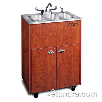 OZRADSTCSSSS3N - Ozark River - ADSTC-SS-SS3N - Silver Premier Series Triple Stainless/Cherry Portable Hand Sink Product Image