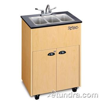 OZRADSTMLMSS3N - Ozark River - ADSTM-LM-SS3N - Premier Series Triple Stainless/Laminate/Maple Portable Hand Sink Product Image