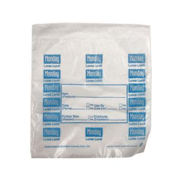 "DAY112378 - DayMark - 112378 - 6.5"" x 7"" Saddlepack Monday Trilingual Portion Bag Product Image"