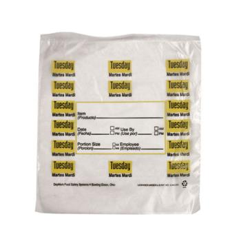 "DAY112379 - DayMark - 112379 - 6.5"" x 7"" Saddlepack Tuesday Trilingual Portion Bag Product Image"