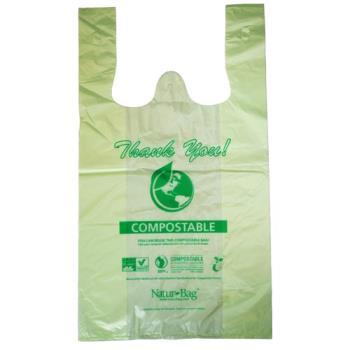 57218 - Natur Bag - NT1075-RTL-00004 - Medium Compostable Shopping Bags Product Image