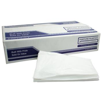 "58110 - Fortune Plastic - IM60XHWH - 38"" x 58""- .75 Mil White Low Density Can Liner Product Image"