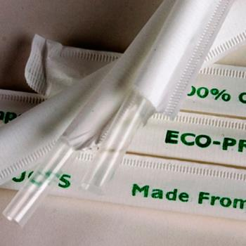 56170 - Eco-Products - EP-ST770 - 7 3/4 in Compostable Clear Wrapped Straws Product Image