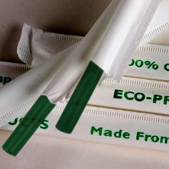 56181 - Eco-Products - EP-ST772 - 7 3/4 in Green Wrapped Straws Product Image