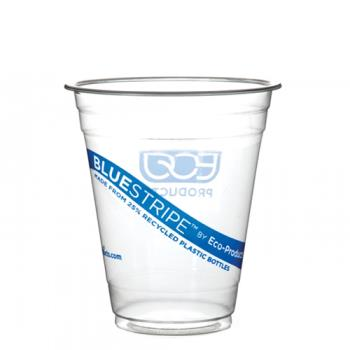 56149 - Eco-Products - EP-CR16 - 16 oz Recycled Blue Strip™ PET Cold Cups Product Image