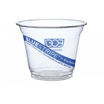 57134 - Eco-Products - EP-CR9 - 9 oz Recycled BlueStripe™ PET Cold Cups Product Image