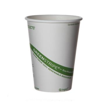 76195 - Eco-Products - EP-BHC10-GS - 10 oz GreenStripe® Hot Cup Product Image
