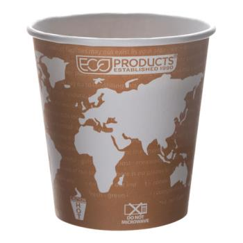 57165 - Eco-Products - EP-BHC10-WAPK - 10 oz World Art™ Hot Cups Convenience Pack Product Image