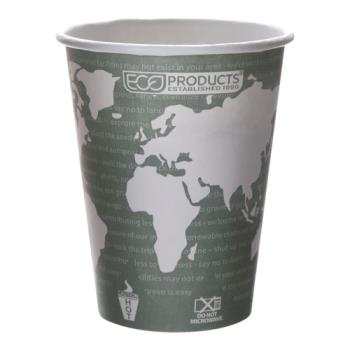 57166 - Eco-Products - EP-BHC12-WAPK - 12 oz World Art™ Hot Cups Convenience Pack Product Image