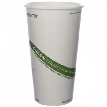 56134 - Eco-Products - EP-BHC20-GS - 20 oz GreenStripe® Hot Cups Product Image
