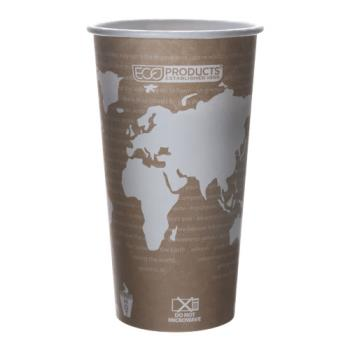 56112 - Eco-Products - EP-BHC20-WA - 20 oz World Art™ Hot Cups Product Image