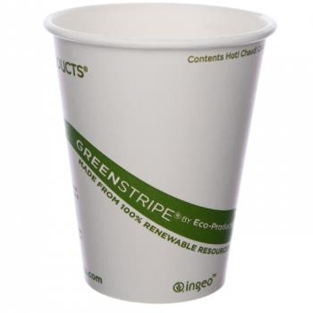 56135 - Eco-Products - EP-BHC8-GS - 8 oz GreenStripe® Hot Cups Product Image