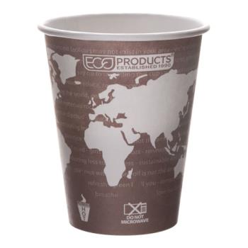 56113 - Eco-Products - EP-BHC8-WA - 8 oz World Art™ Hot Cups Product Image