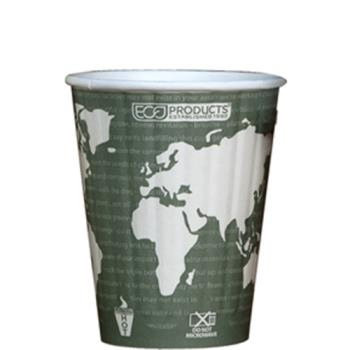 56183 - Eco-Products - EP-BNHC12-WD - 12 oz World Art™ Insulated Hot Cups Product Image