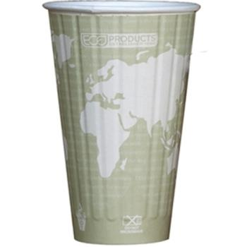56184 - Eco-Products - EP-BNHC16-WD - 16 oz World Art™ Insulated Hot Cups Product Image