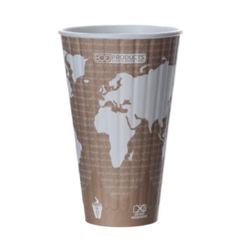 56123 - Eco-Products - EP-BNHC20-WD - 20 oz World Art™ Insulated Hot Cups Product Image