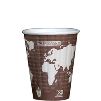 56182 - Eco-Products - EP-BNHC8-WD - 8 oz World Art™ Insulated Hot Cups Product Image